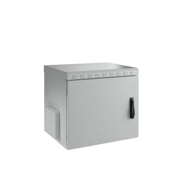 """Wandgehäuse 19"""", IP55, 12HE, 1-teilig, T450/H630mm, Stahlblechtüre, Lichtgrau,"""