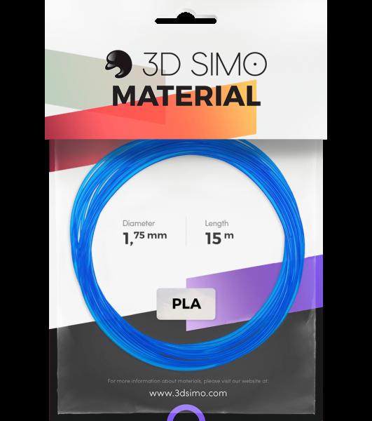3Dsimo Filament PLA Transparent blau, rot & weiß