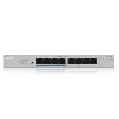 ZyXEL Switch Gigabit, PoE, smart managed, 8 Port, GS1200-8HPV2
