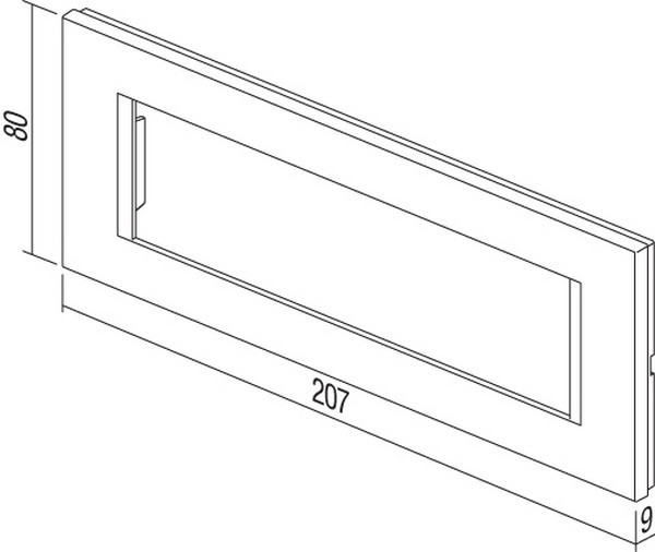 TEM Serie Modul Rahmen OL COVER PLATE LINE7M PW