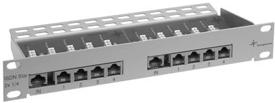 Telegärtner Patch Panel ISDN Star 2x1/4 10""
