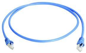 Telegärtner Patchkabel CAT6A, 0.5m, Blau, 500MHz, S-STP(S/F