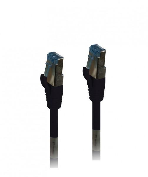 Patchkabel RJ45, CAT6A 500Mhz, 7.5m, schwarz, S-STP(S/FTP), PUR(Außen/Outdoor/Industrie), AWG26, Synergy 21