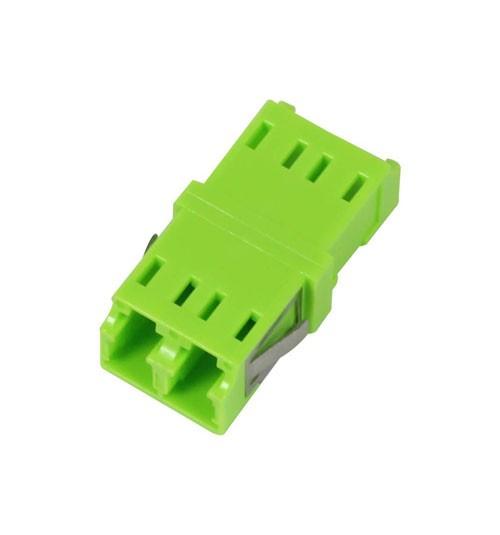 LWL-Kupplung, LC-Buchse/LC-Buchse, 50/125u Multimode OM5, lime Green, duplex, PVC, ohne Flansch, Synergy 21,