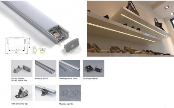 Synergy 21 LED U-Profil 200cm, ALU002-R weiss
