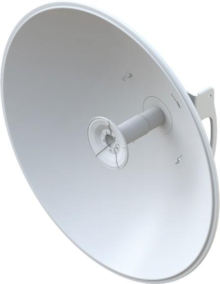 Ubiquiti airFiberX dish antenna, 5GHz 30dBi, slant 45 degrees