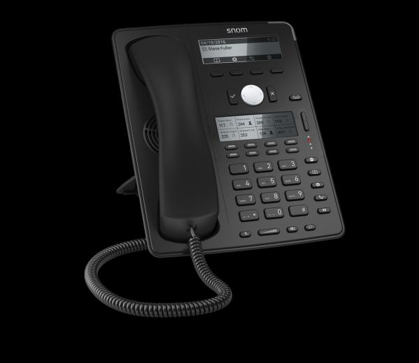 SNOM D745 VOIP Telefon (SIP), Gigabit o. Netzteil, schwarz