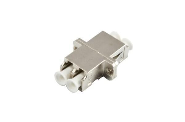 LWL-Kupplung, LC-Buchse/LC-Buchse, 50/125u Multimode, duplex, Metall mit Flansch, Synergy 21