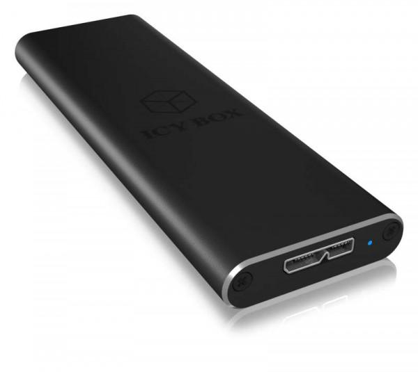 ICY Box Gehäuse, M.2 SATA SSD-> USB 3.0, IB-183M2,