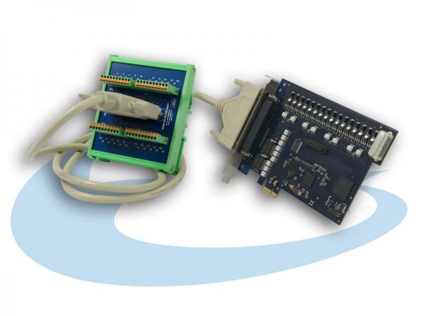 ALLDAQ ADQ-10-PCIe Bundle mit Kabel und 37-pol. Anschlussblock