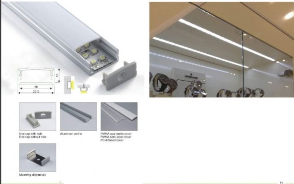 Synergy 21 LED U-Profil 200cm, ALU014 weiss