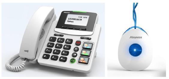 Akuvox IP Phone Desktop BIG Button with SOS / R15P