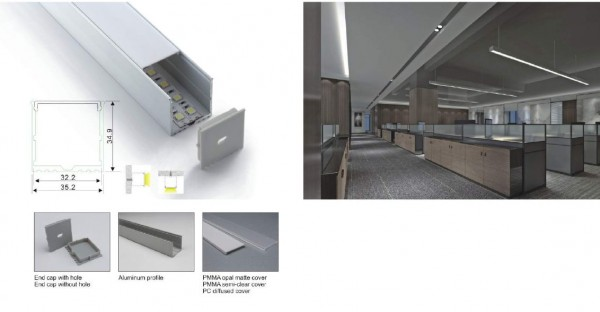 Synergy 21 LED U-Profil 200cm, ALU018
