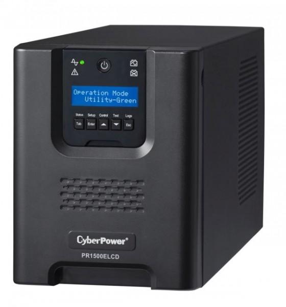 CyberPower USV, PR Tower-Serie, 1500VA/1350W, Line-Interactive, reiner Sinus, LCD, USB/RS232,
