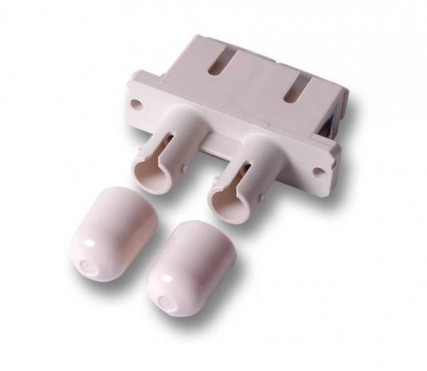 LWL-Kupplung, SC-Buchse/ST-Buchse, 50/125u Multimode, duplex, PVC, Keramikhülse