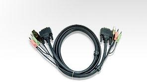 Aten Verbindungskabel DVI, 3m, USB, Audio