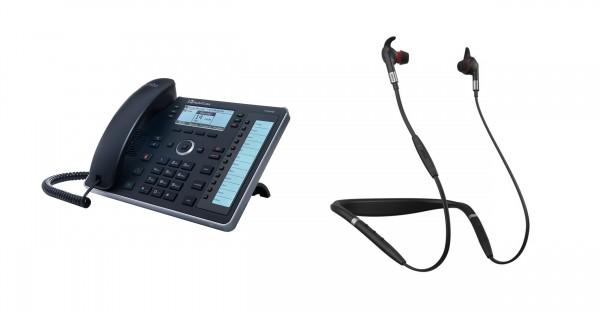 Audiocodes - Jabra Bundle, UC440HDEG & Evolve 75e MS inkl. Link 370