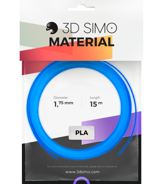 3Dsimo Filament Luminous blau fluoriszierend