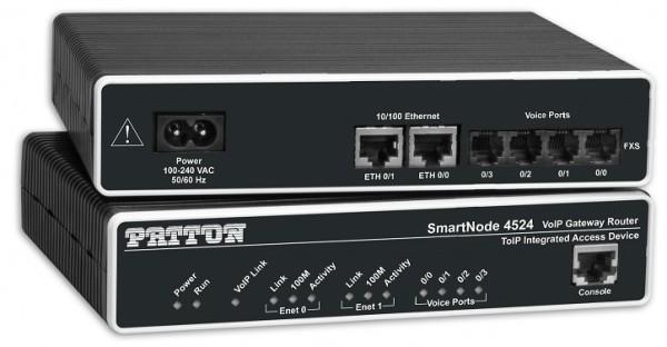 Patton SmartNode 4524, 2 FXS & 2 FXO VoIP GW-Router