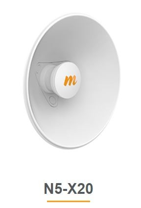 Mimosa N5-X20 - 250mm horn Antenna for C5x, 20 dBi