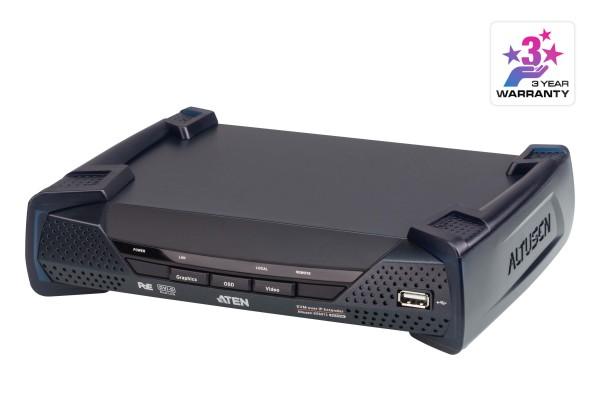 Aten KVM-Extender, over IP, (nur Receiver), DVI-D, mit POE