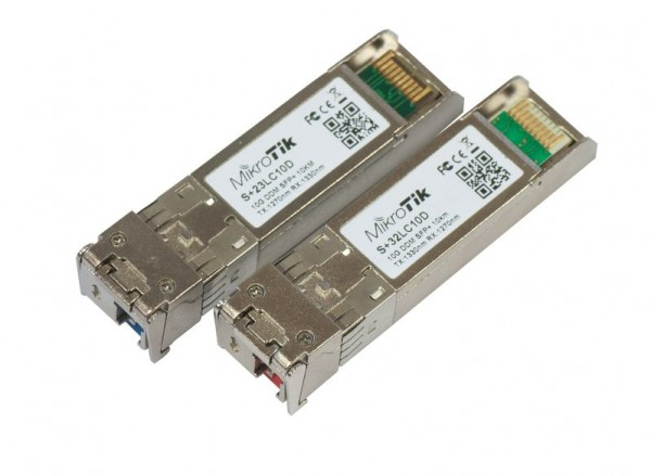 Mikrotik Zubehör Pair of SFP+ modules, S+23LC10D + S+32LC10D