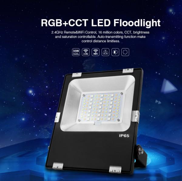Funk /& WLAN RGB-CCT MILIGHT LED Flächenstrahler IP65 30W+30W RGB-WW