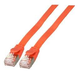 Patchkabel RJ45, CAT6A 500Mhz, 1.0m, rot, U/FTP, flach,