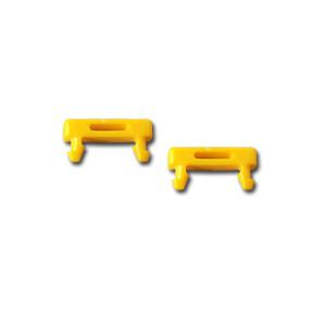 Patchkabel RJ45, DC, zbh. Steckermarkierungsclip, gelb, 100-P