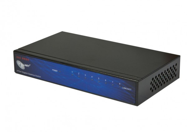 ALLNET ALL8889V5 / unmanaged 8 Port Gigabit Switch, lüfterlos, externes Netzteil
