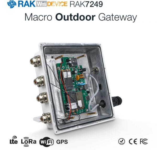 RAK Wireless · LoRa · DIY LoRaWan Outdoor Gateway RAK7249-03-142 LORA 8RX Kanäle 868MHz + LTE Backup