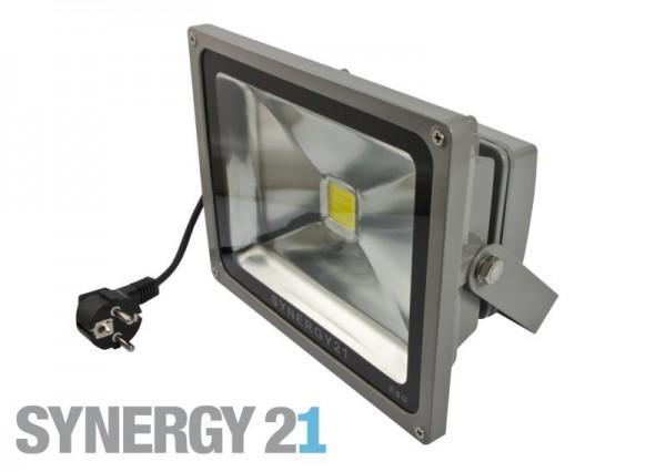 Synergy 21 LED Spot Outdoor Baustrahler 50W schwarzes Gehäuse - blau V2