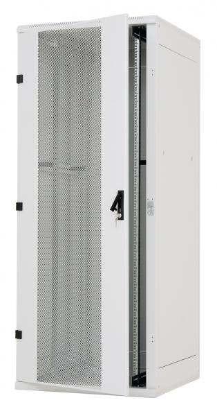 """Triton 19""""Schrank 15HE, B600/T 800, Lichtgrau, perforierte Fronttür/Seiten-/Rückwand"""