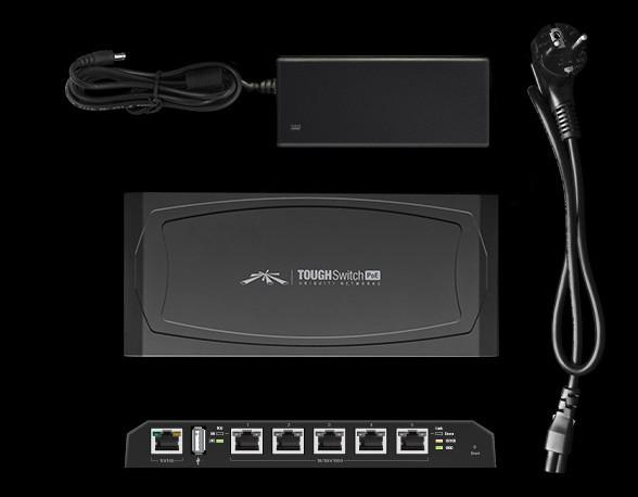 Ubiquiti ToughSwitch POE, 5x Gigabits POE ports, 24V