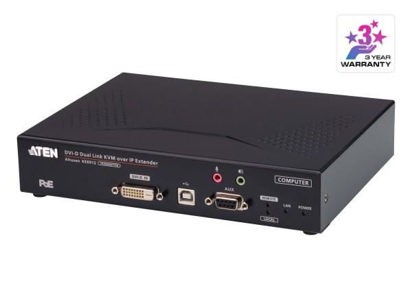 Aten KVM-Extender, over IP, (nur Transmitter), DVI-D, mit POE