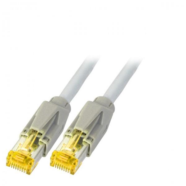 Patchkabel RJ45, CAT6A 900Mhz, 3m grau, S-STP(S/FTP), ND-UC900+TM31