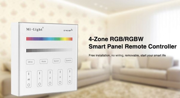 Synergy 21 LED Fernbedienung Smart Panel RGB/RGBW 4 Zonen *MiLight*
