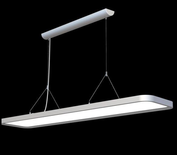 Synergy 21 LED office line Abhänge - Panel grau, dimmbar