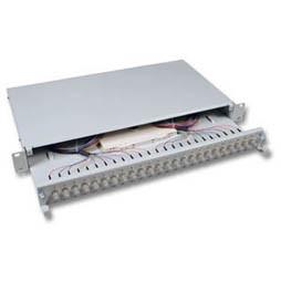 "LWL-Patchpanel Spleisbox,19"",12xST, 62,5/125um,ausziehbar,"