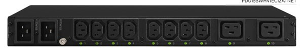 CyberPower PDU ATS, Switched, 230V/20A, 1HE, 8xC13/2xC19 Ausgang, 2xC20 Eingang,