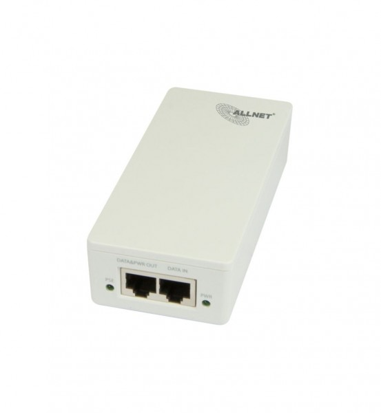 ALLNET ALL0488V5 / Gigabit PoE Injector IEEE802.3at/af, IEC-C14, Plastik