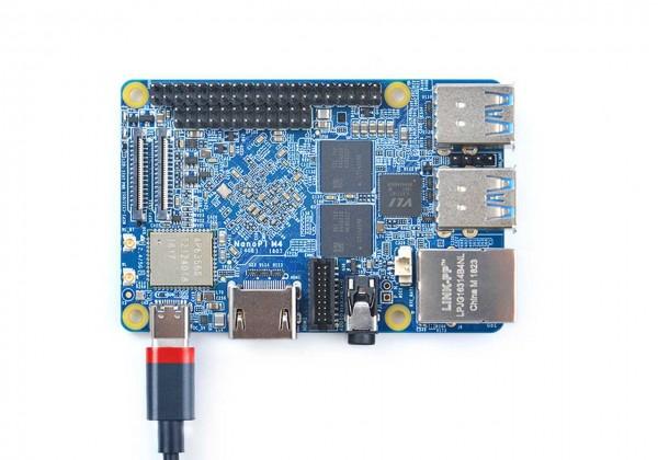 FriendlyELEC NanoPi M4 - 2GB Ram OctaCore A72/53 64-bit ARM Board RK3399
