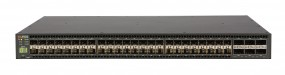 Brocade ICX 7750 Switch with 48 10GbE SFP+ ports, 6 10/40GbE QSFP+ ports, one modular slot. Base layer 3 software feature set.