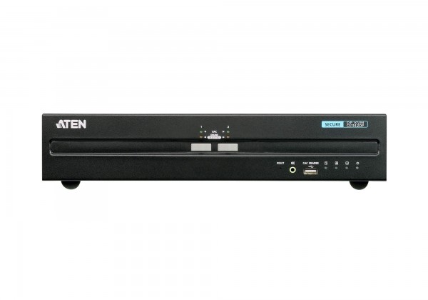 Aten KVM-Switch 2-fach Audio/DP(Displayport), USB, Dual Display, Secure,