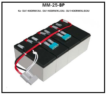 Akku OEM RBC25-MM-BP, f.SU1400RMXLI3U/RMI3U, Akkus mit Kabel,