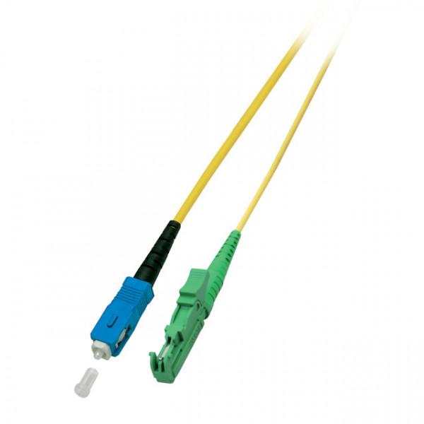 LWL-1-Faser-Patchk. 3mtr.E2000(APC 8G)-SC, 9/125u, Schrägschliff, Simplex!