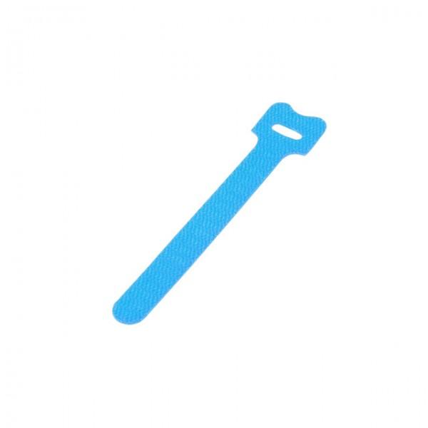 """ALLNET 19""""zbh. Kabelbinder klett, L130xB12mm, 10er Pack, Aqua,"""
