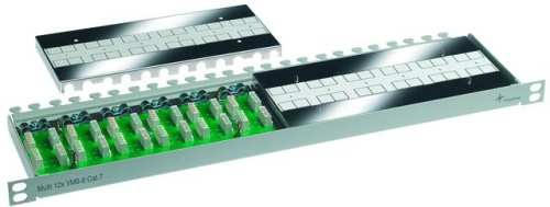 Telegärtner Patch Panel 12xLSA-LSA Verbindungsmodul CAT7A