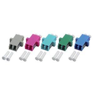 LWL-Kupplung, LC-Buchse/LC-Buchse, 50/125u Multimode, duplex, PVC, Keramikhülse, OM4