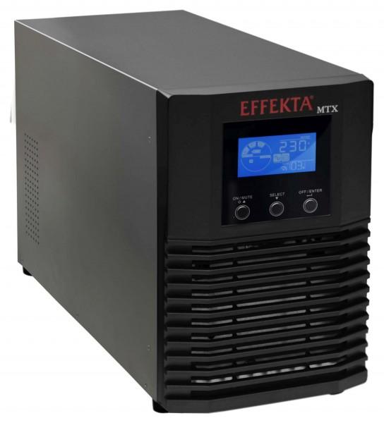Effekta MTX-XL Lineinteraktive USV, 1100VA, 36min, MTX1100-36, USB+RS232, Schwarz, Sinus-Ausgang,